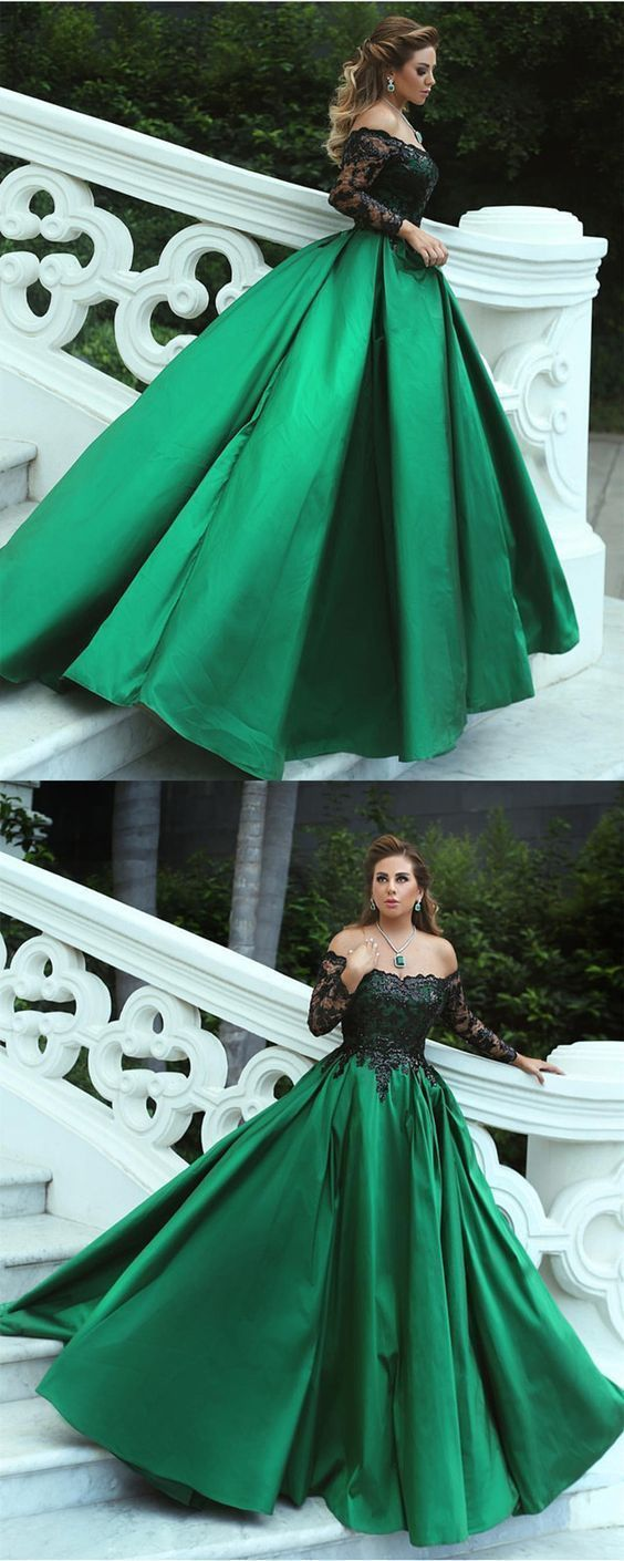Charming Off The Shoulder A-Line Prom Dresses,Long Prom Dresses,Cheap Prom