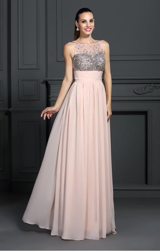 2018 Bateau a Line Prom Dresses