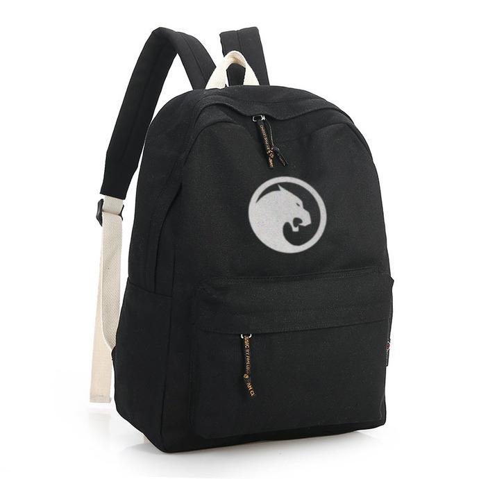 Wakanda Black Canvas Backpack