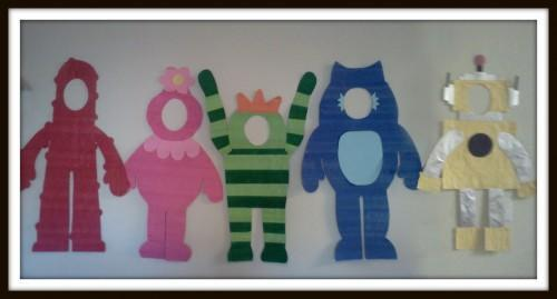 Yo Gabba Gabba Inspired Character Cutout / Photo Props