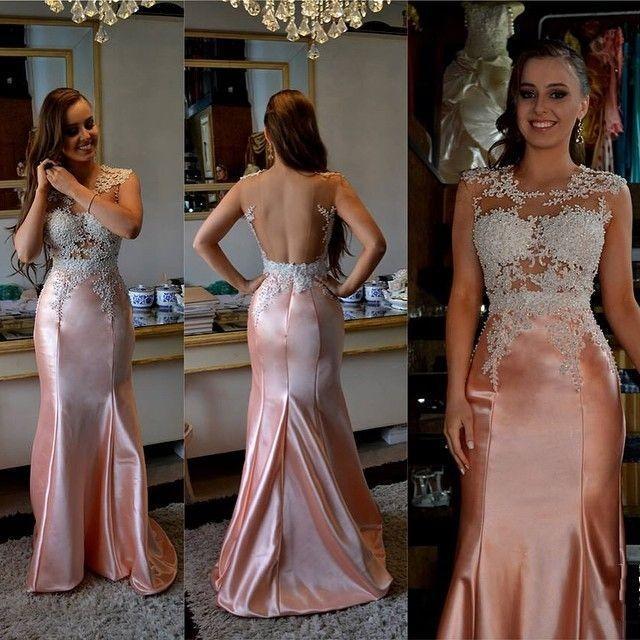 Prom Dresses,2018 Long Mermaid Glamorous Sleeveless Appliques Beading Evening