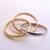 Womens Vintage Estate 14k Gold Tri Color Band Ring, 8.1g E2788