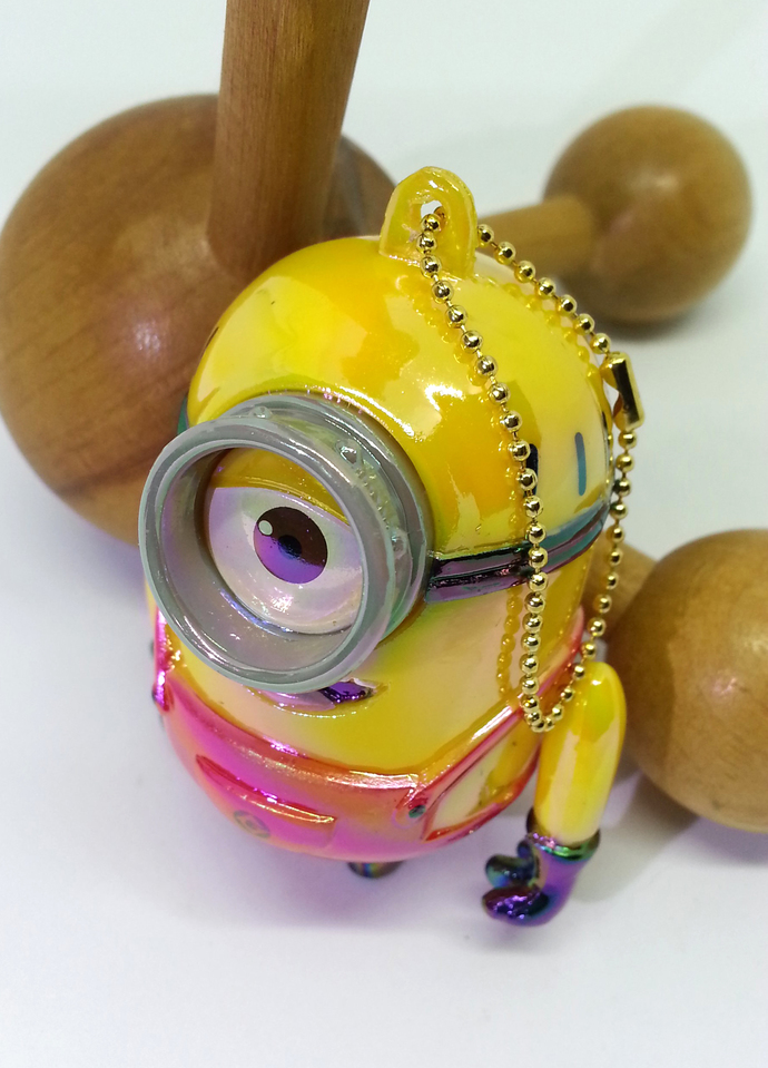 Japan Import Minion STUART Iridescent Jointed Cell Phone / Bag Charm Strap -