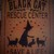 Black Cats rescue center sign Halloween witch decorations Humane Society Cat art