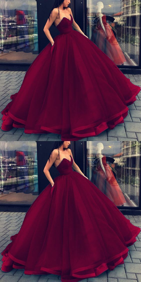 Burgundy Ball Gowns Wedding Dresses by Miss Zhu Bridal on Zibbet