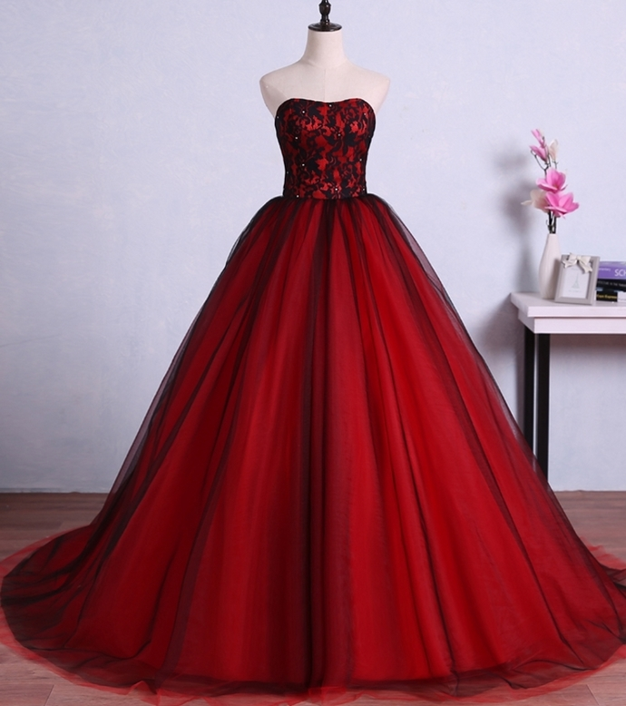 Charming Red Ball Gown Prom Dresses Tulle by prom dresses on Zibbet