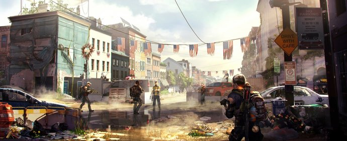 "Tom Clancy's The Division 2 Polyester Fabric Poster (13""x19"" or 18""x28"")"