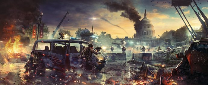 """Tom Clancy's The Division 2 Polyester Fabric Poster (13""""x19"""" or 18""""x28"""")"""