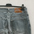 Vintage Jeans 80's style size Large straight leg and high waist OOAK Made in