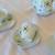 Tea Set Hand Painted Child's Sized Starbursts Swirls Spirals