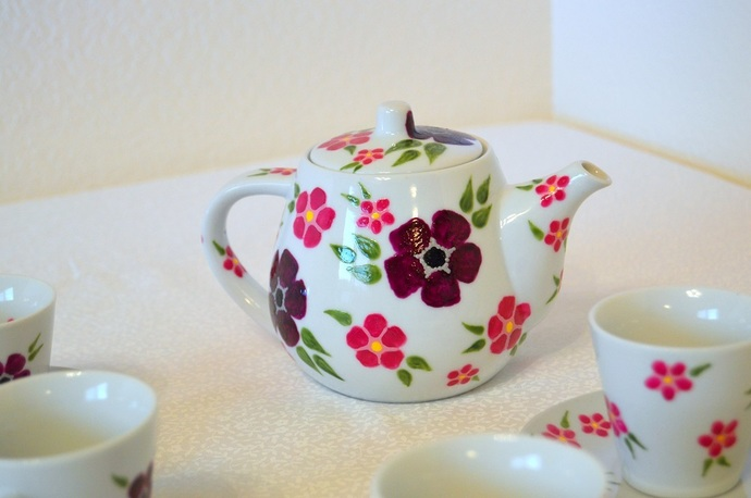 For-Get-Me-Nots Tea Set In Purple And Pinks