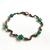 Copper Squiggle Teal Flower Jewellery Set Bracelet Earrings Czech Glass Beads