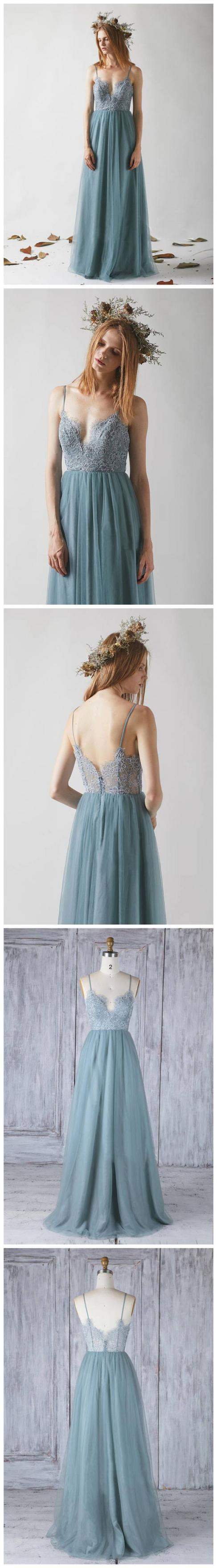 Sexy Evening Dress, A Line Prom Dress,lace Long Party Dress
