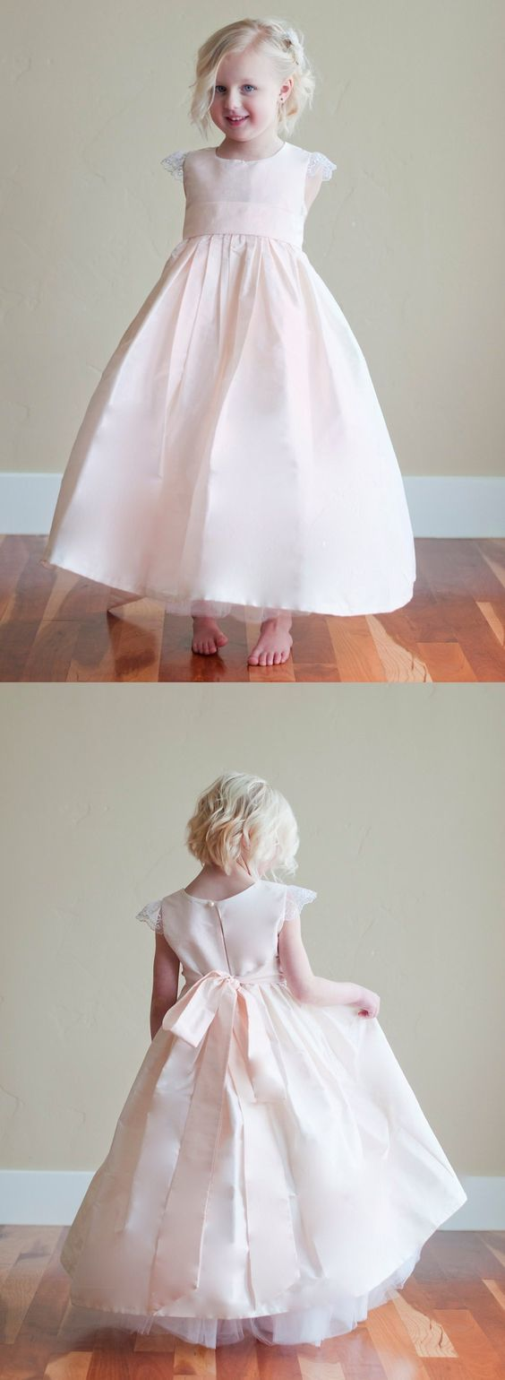 sweet pink flower girl dresses, fashion party dresses for baby girl , wedding