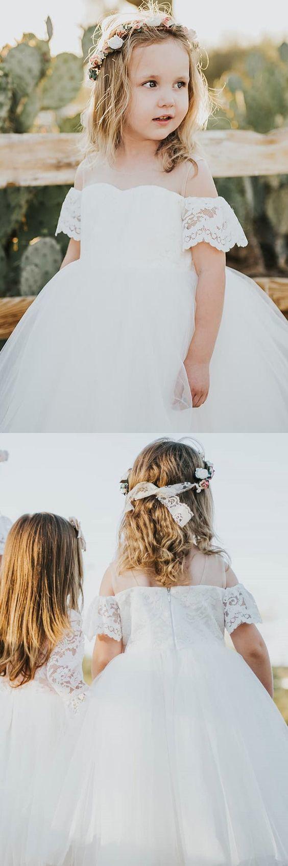 Cute White Flower Girl Dress