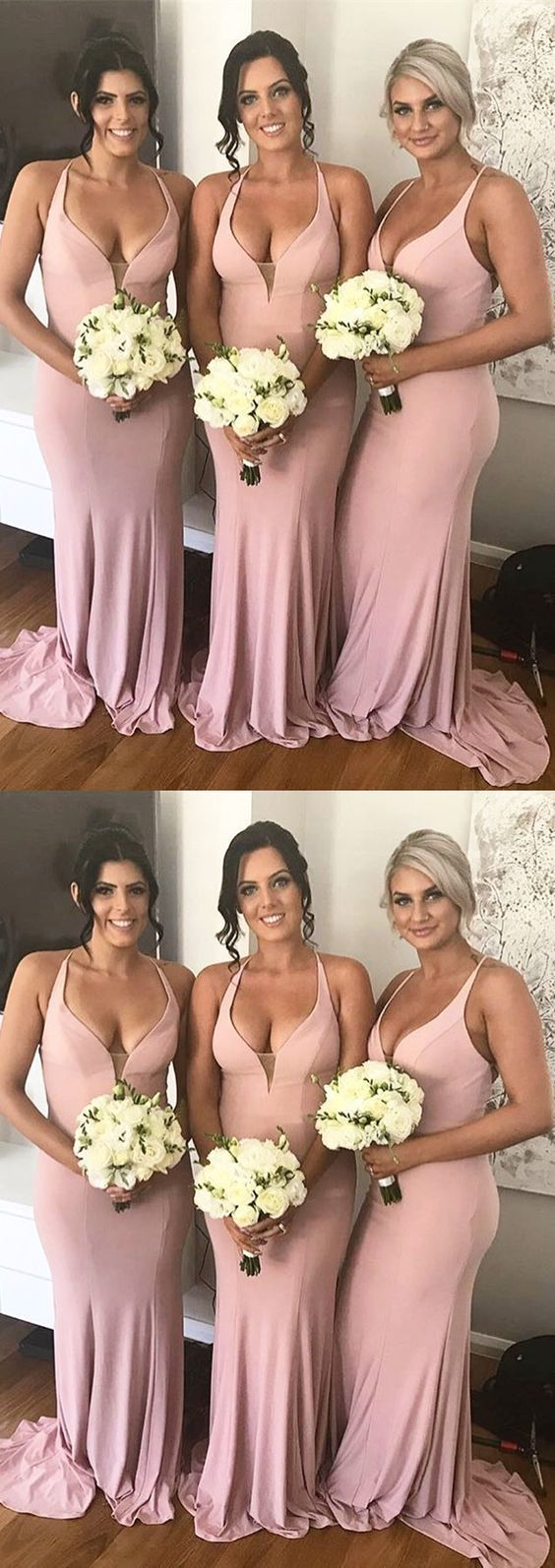 pink long bridesmaid dresses, mermaid long bridesmaid dresses, wedding party