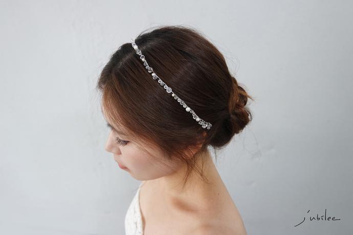 [Snow Flower1] wedding head piece wedding tiara crystal bridal pearl bridal