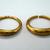 Vintage Antique 24kt gold earrings solid gold earrings unisex gold earrings