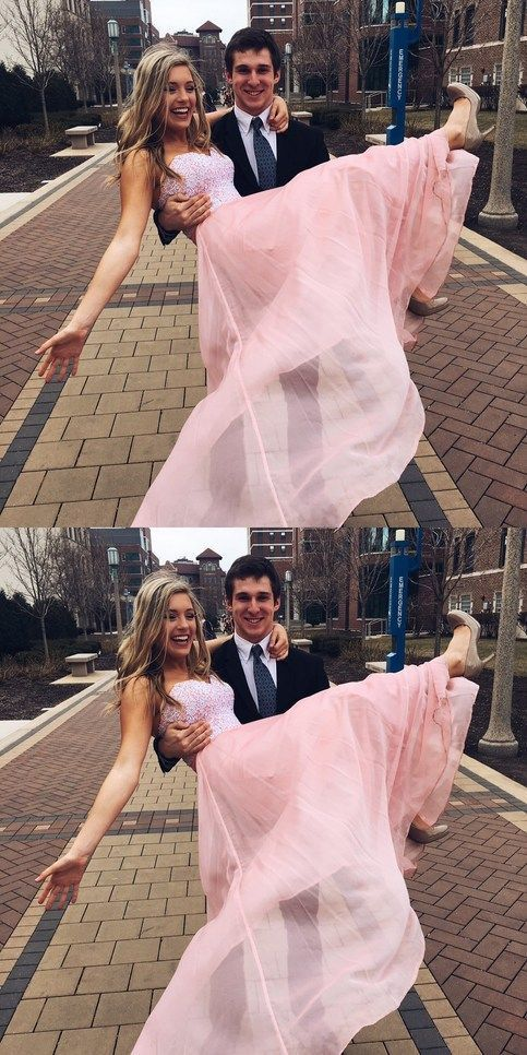 Pink Prom Dress,Long Prom Dress with White Lace,Cheap Prom Dress,Formal