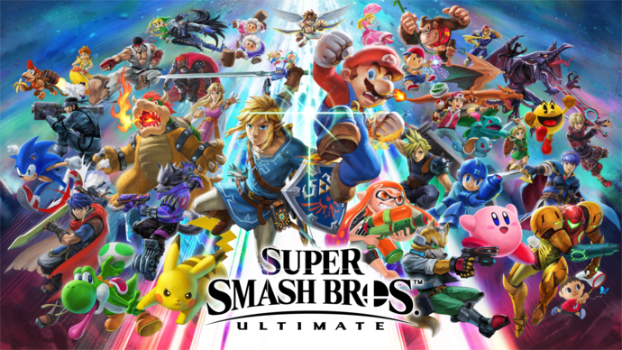 "Super Smash Bros. Ultimate Polyester Fabric Poster (13""x19"" or 18""x28"")"