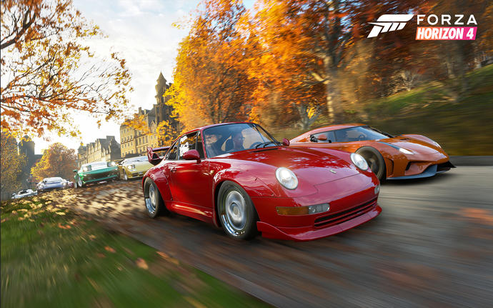 """Forza Horizon 4 Polyester Fabric Poster (13""""x19"""" or 18""""x28"""")"""