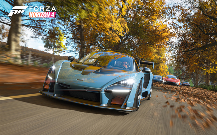 "Forza Horizon 4 Polyester Fabric Poster (13""x19"" or 18""x28"")"