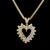 Womens Vintage Estate 14K Gold Necklace w/ Diamond Heart Pendant 16.9g E2789