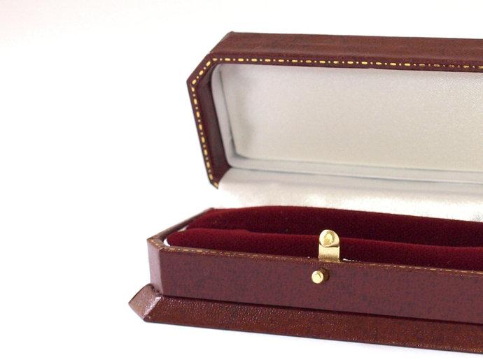 Luxury Double Ring Box Wedding, Antique Style Leatherette & Velvet Wedding Ring