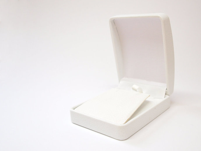 White Multi Use Leatherette Box, Luxury Necklace and Earring Box, White