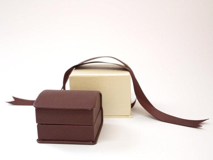 Burgundy Ring Box for Engagement Ring, Wedding Ring, Gift Box, Ring Bearer Box,