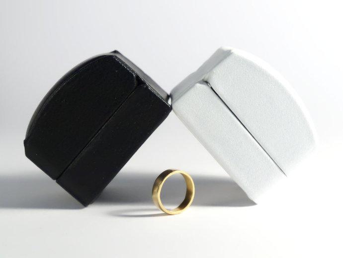Leatherette Ring Box, Engagement Ring Box, Ring Bearer Box, Wedding Ring Holder,