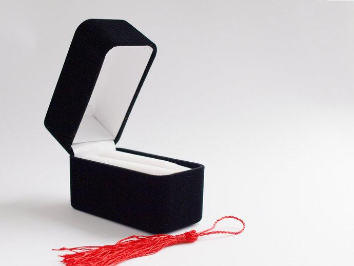 Black Velvet Bangle Box, Gift Box for a Bracelet, Cuff or Bangle, Jewellery Gift