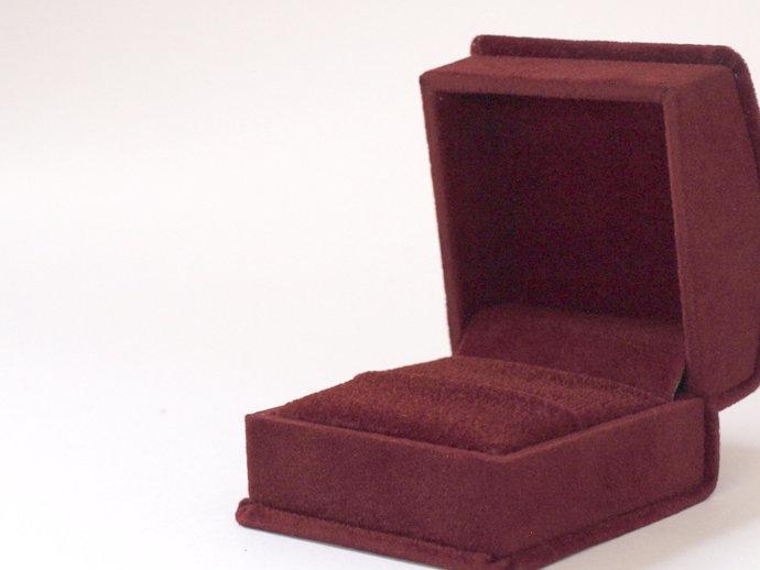 Burgundy Ring Box, Velvet Ring Box, Proposal Ring Box, Wedding Ring Box,