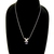 Womens Vintage Estate 14K White Gold Necklace w/ Diamond & Tanzanite Pendant