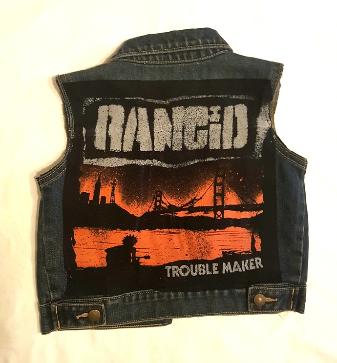 Toddlers RANCID punk denim vest-size 18-24mos