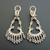 Pr of Womens 14K White Gold Diamond Chandelier Earrings 11.1g E2794