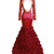 Charming Mermaid Long Sleeve Backless Evening Dress, Formal Appliques Prom