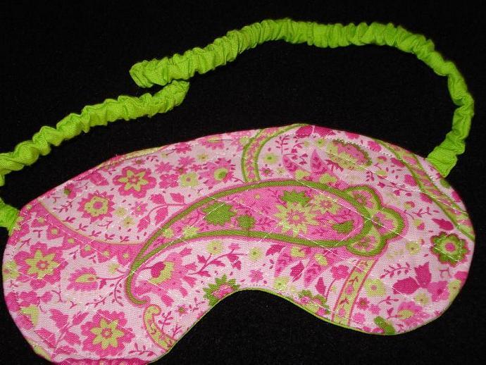 Sweet Dreams Sleeping Mask - Pink & Lime Green