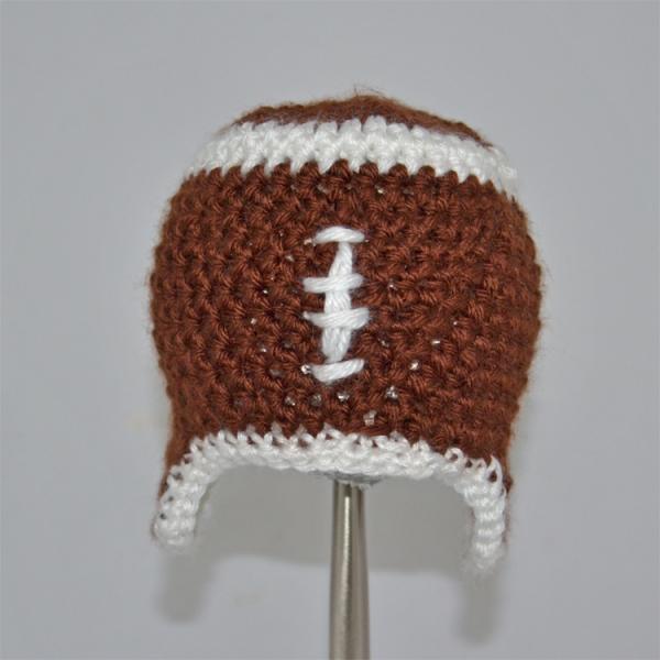 Crochet Football Hat For Girl Or Boy By Sweetbabiesinyarn On Zibbet