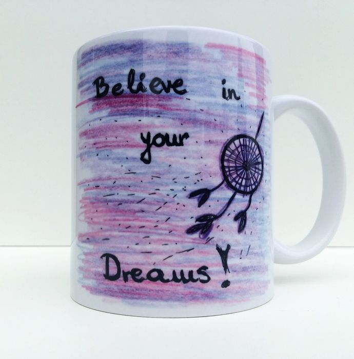 Dreamcatcher, Believe In Your Dreams, Native American, Coffee Mug, Coffee Cup,