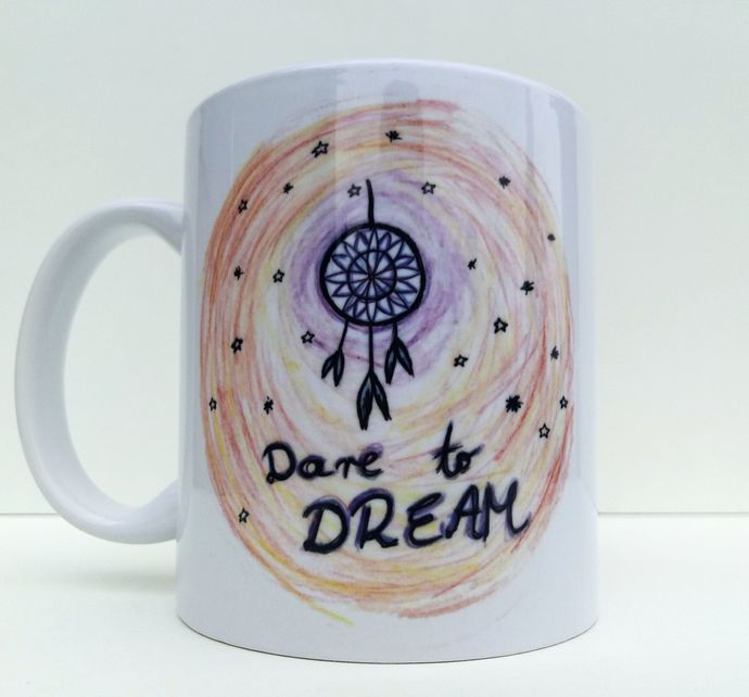 Dreamcatcher, Dare To Dream, Native American, Coffee Mug, Tea Cup