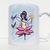 Fairy Mug, Flower Power, Handpainted Design, Girls Mug, Coffee Mug, Tea Cup