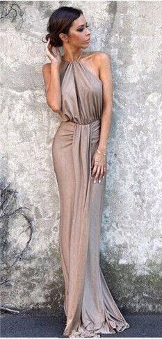 gray halter prom dress,gorgeous custom made prom dress,cheap party dress