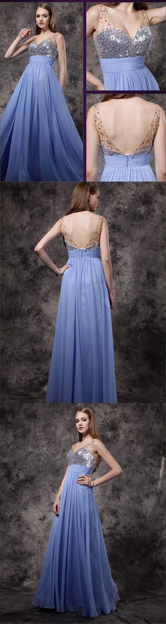 Prom Dress Simple Chiffon A-line Cheap Long Prom Dress