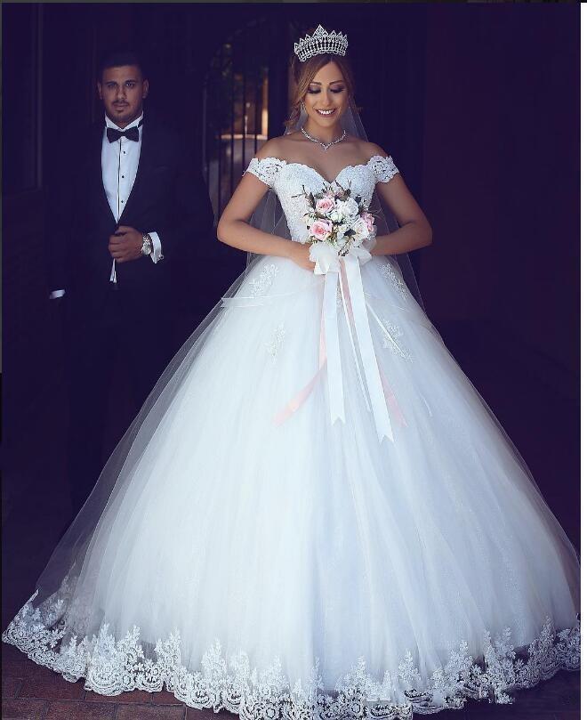 Off the Shoulder Princess Wedding Dresses
