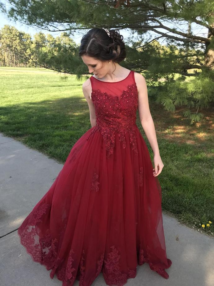 Sweep Train Prom Dresses,Formal Dresses,Prom Dresses, A-Line Prom Dresses,Jewel