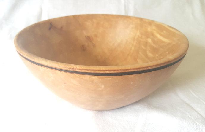 Pear Wood Bowl , Fruit Bowl, Salad Bowl, Decorative Bowl, Woodturning Bowl, Wood