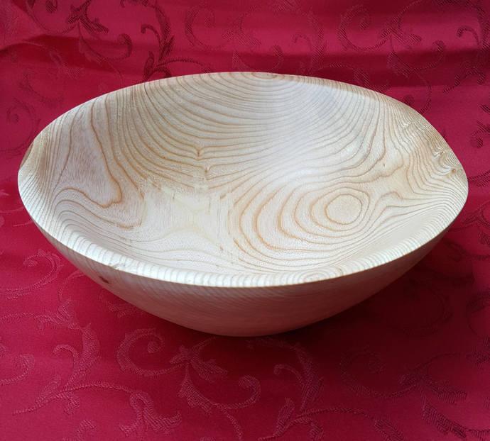 Wood Bowl, Maple Wood Bowl, Hand Turned, Wooden Fruit Bowl, Natural Bowl ,