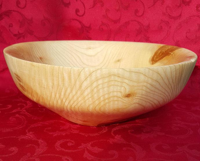 Handmade Maple Wood Fruit Bowl , Decorative Bowl, Woodturning Bowl,  Salad Bowl,