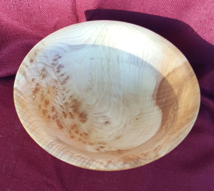 Wood Bowl, Maple Wood Bowl, Hand Turned, Wooden Fruit Bowl, Natural Bowl ,